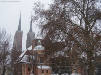 Plac Katedralny zimą