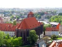 Widok na Piasek z wieży katedry