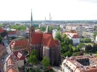 Kościół św. Krzyża i rejon elektrociepłowni przy Łowickiej