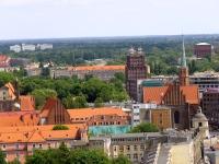 Dawny klasztor dominikanek, kościół św. Wojciecha i Poczta główna