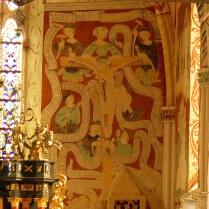 Polichromie prezbiterium - apologia Ukrzyżowanego