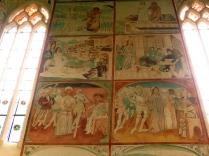 Polichromie - wjazd do Jerozolimy, Ostatnia Wieczerza, pojmanie Jezusa