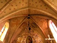 Polichromie: symbol św. Marka, Ukoronowanie NMP, Chrystus tronujący, symbol św. Mateusza