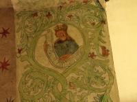 Detal dekoracji podłucza tęczowego