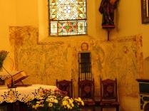 Polichromie na wsch. ścianie prezbiterium