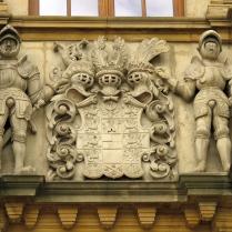 Herb brandenburski na budynku bramnym