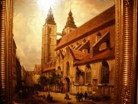 Kościół św. Marii Magdaleny w XVIII-XIX w. (obraz w zbiorach Muzeum Narodowego)