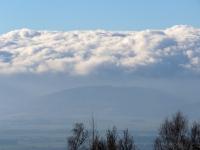 Przecinka pod Czernicą - widok na Wzgórza Niemczańsko-Strzelińskie