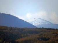 Widok znad Gogołowa na rejon Śnieżki