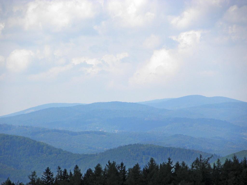 Panorama spod Kikoła - Góry Sowie