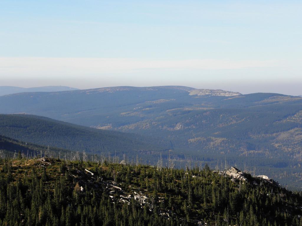 Panorama of Góry Izerskie