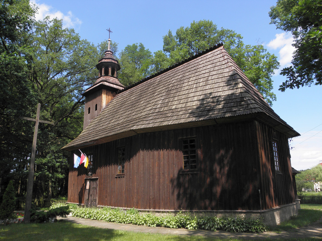 Dziesławice - kościół drewniany