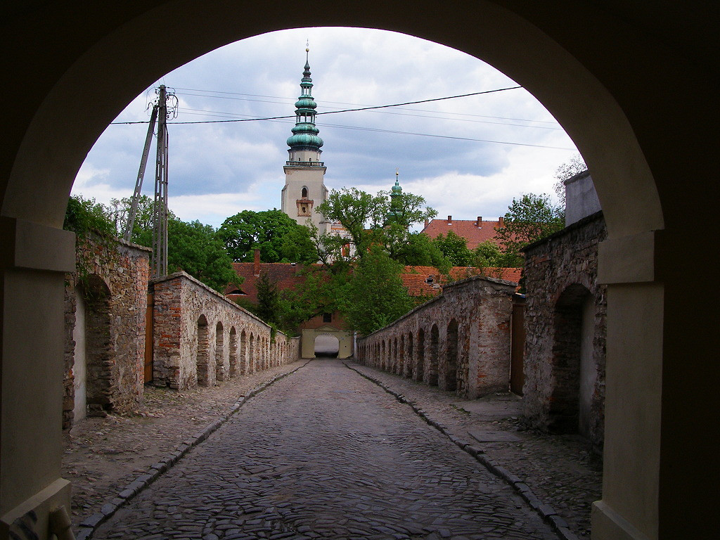 Old road to the abbey in Henrykow