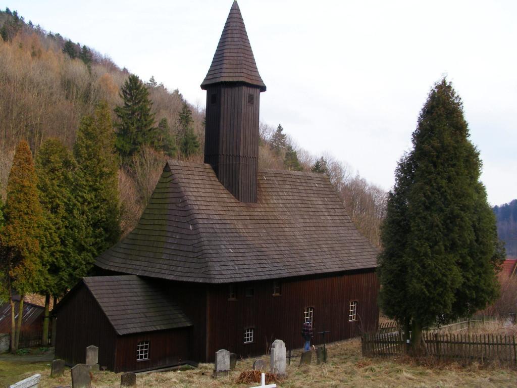 Wooden church in Zalesie