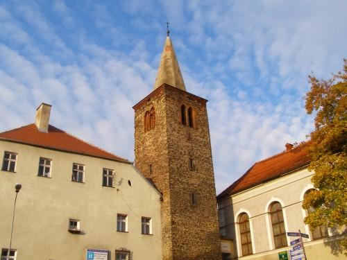 View from the rail station in Bystrzyca Klodzka