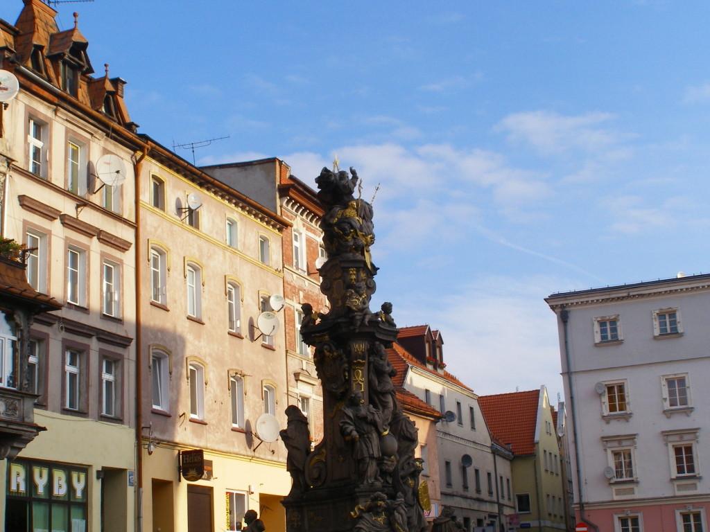 Votive column in the marketplace of Bystrzyca Klodzka