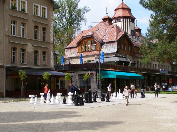 Large chess in Kudowa