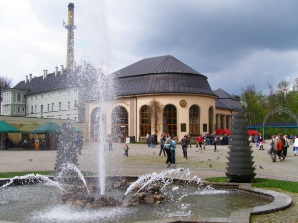 Fountain in the park of Kudowa
