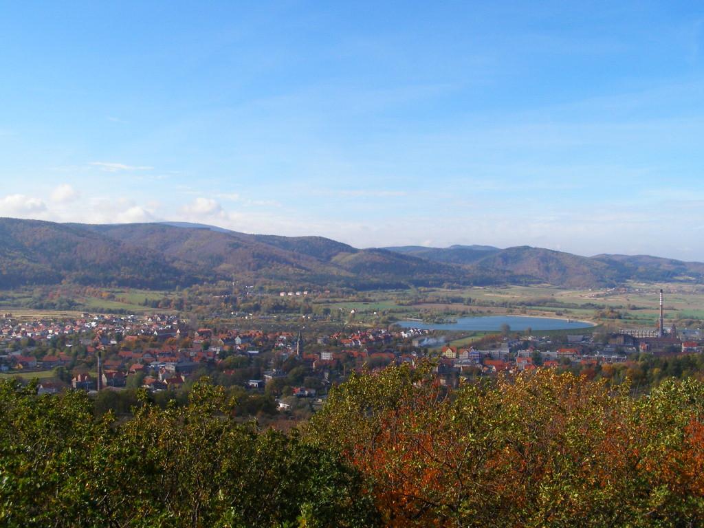 Panorama from Parkowa - Bielawa & Wielka Sowa