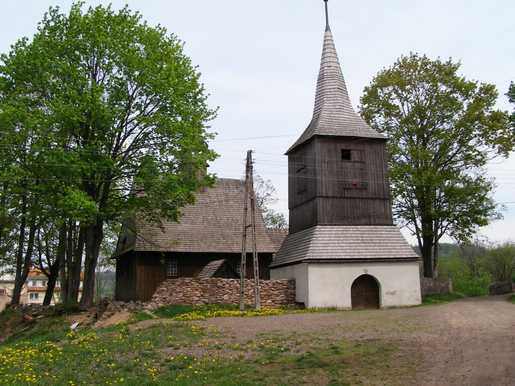 16th century church in Rybnica Lesna