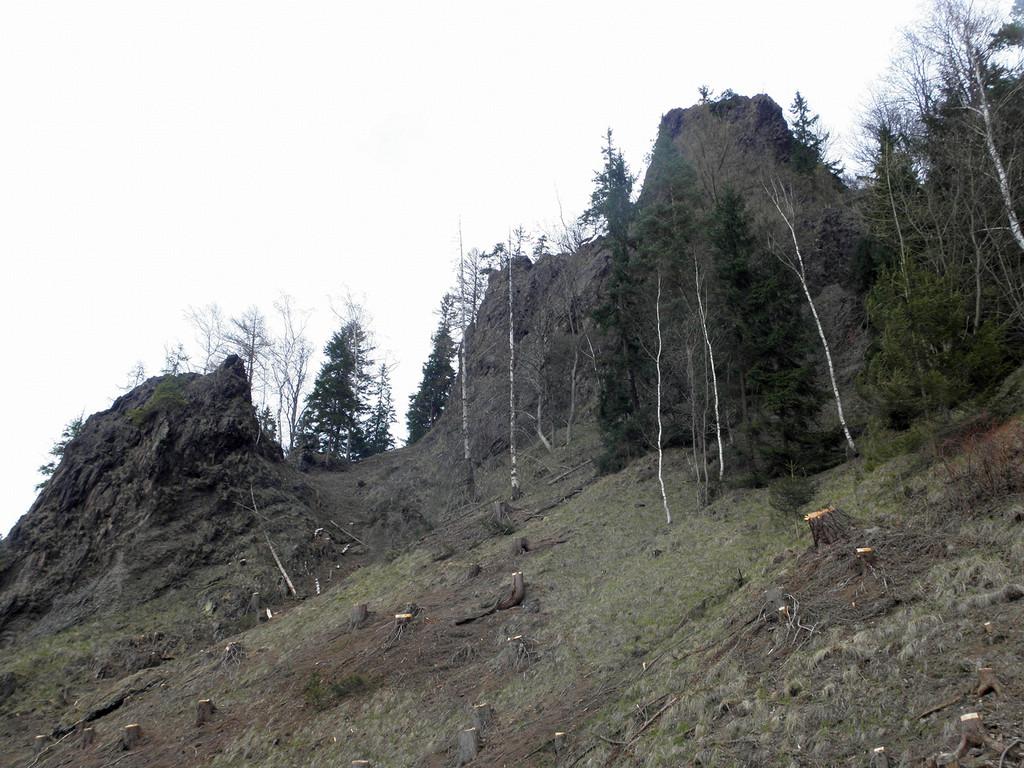 Skały w rezerwacie Kruczy Kamień