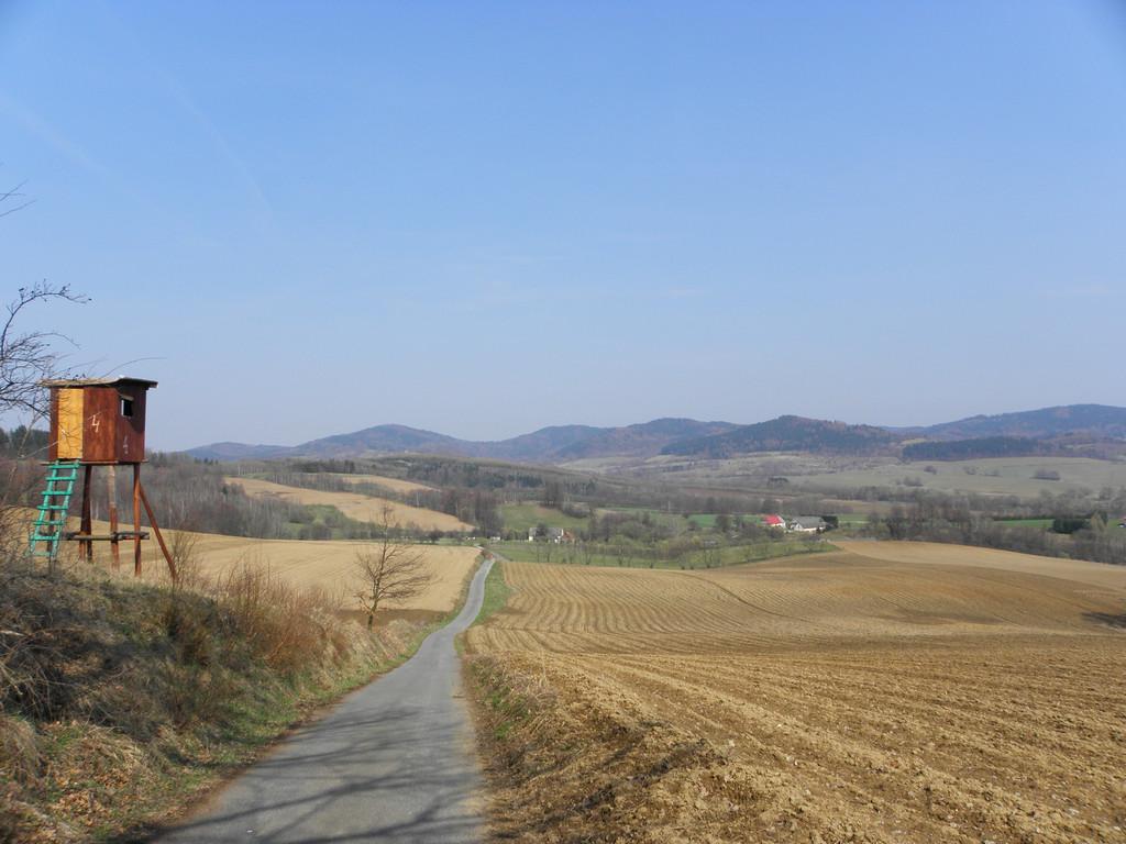 Widok na Góry Złote ze Wzgórz Rogówki
