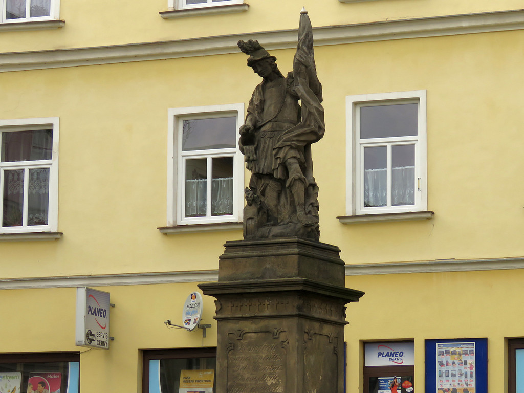 Broumov - figura św. Floriana