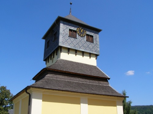 Czermna - clock on the belfry