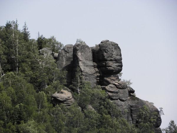 Urwiska Bożanowskiego Szczytu z Junackiej vyhlidki
